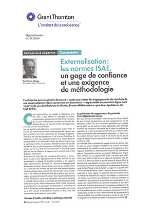Externalisation les normes ISAE