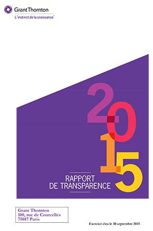Grant Thornton Rapport transparence 2015