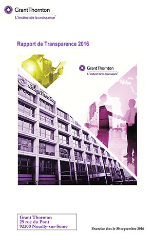 Grant Thornton Rapport transparence 2016