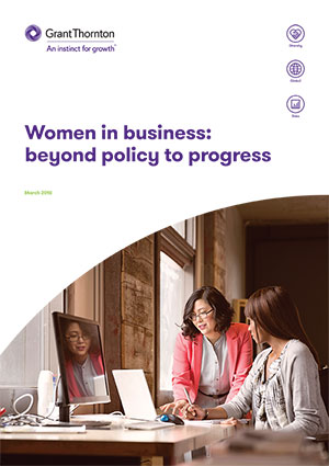 Grant Thornton Women in business, 2018 Embargo 8-March